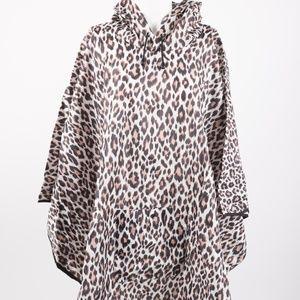 Chicos Poncho Raincoat Cheetah Leopard Windbreaker